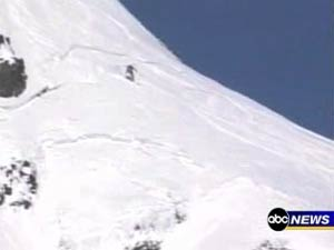ABC video of skier and avalanche