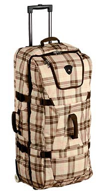 Burton wheelie double deck, Plaid mocha - Photo: Burton