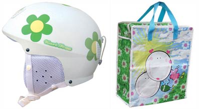 Kari Traa helmet and beach bag