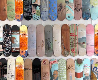 Handpainted skateboards