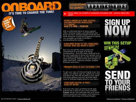 Onboard Digital website