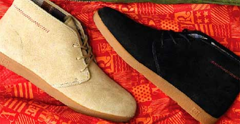 Aaron Rose designed these desert boots for DC.