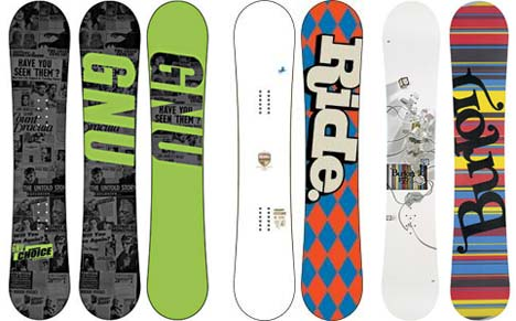 Top 10 Mens Snowboards 2007