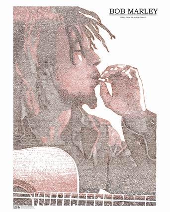 Bob Marley poster at Pop Art