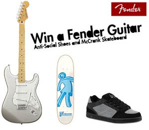 Win a fender guitar